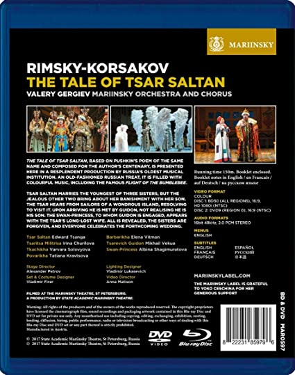 d5ec8293 Rimsky-Korsakov: The Tale Of Tsar Saltan Gergiev Blu-ray: Amazon.co.uk:  Valery Gergiev, Irina Churilova, Albina Shagimuratova, Edward Tsanga, ...