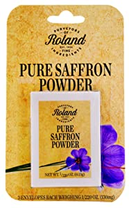 Roland Foods Pure Saffron Powder, Specialty Imported Food, 0.5-Gram Box