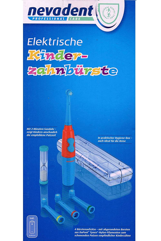 nevadent Cepillo de dientes eléctrico de niños nkz 3 A1 para joven con pegatinas y caja (Azul): Amazon.es: Salud y cuidado personal