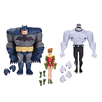 DC Collectibles Batman: The Animated Series: Batman, Robin & Mutant Leader Action Figure (3 Pack): Toys & Games