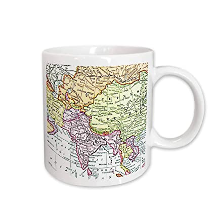 Amazon Com 3drose Vintage Map Of India China Siam And Persia