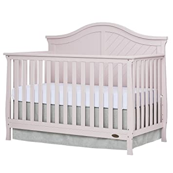Dream On Me Kaylin 5 In 1 Convertible Crib Blush Pink