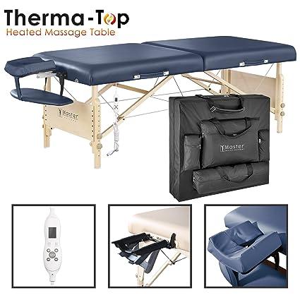 Master Massage 71cm Coronado ThermaTop Mesa de Masaje Portátil Incorporado Cojín del Calentador