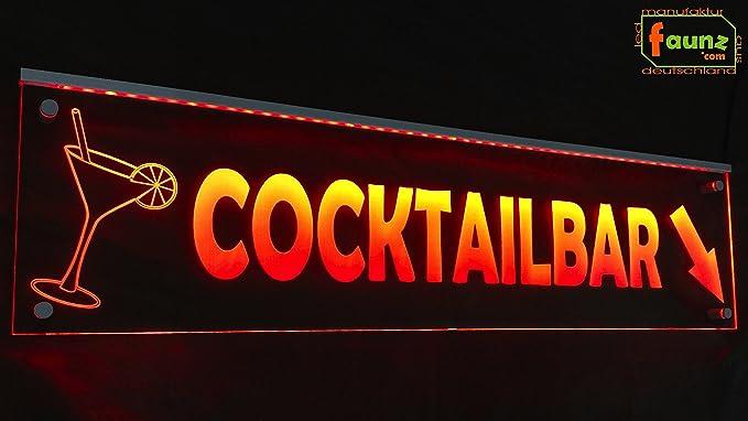 LED Cartel Bebidas Cocktail Bar Mix Naranja Opaco sobre ...