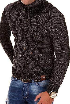 Rabatt-Verkauf neue Sachen Rabatt-Sammlung Tazzio Strickpullover mit Hochkragen Pullover 3992