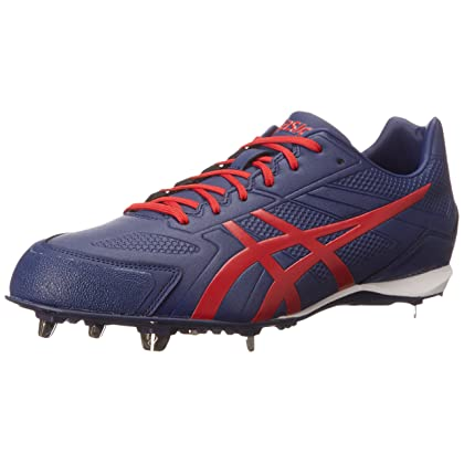 757b10fb5a95 ASICS Men's Base Burner Baseball Shoe, Indigo Blue/Racing Red/White, 10 M US