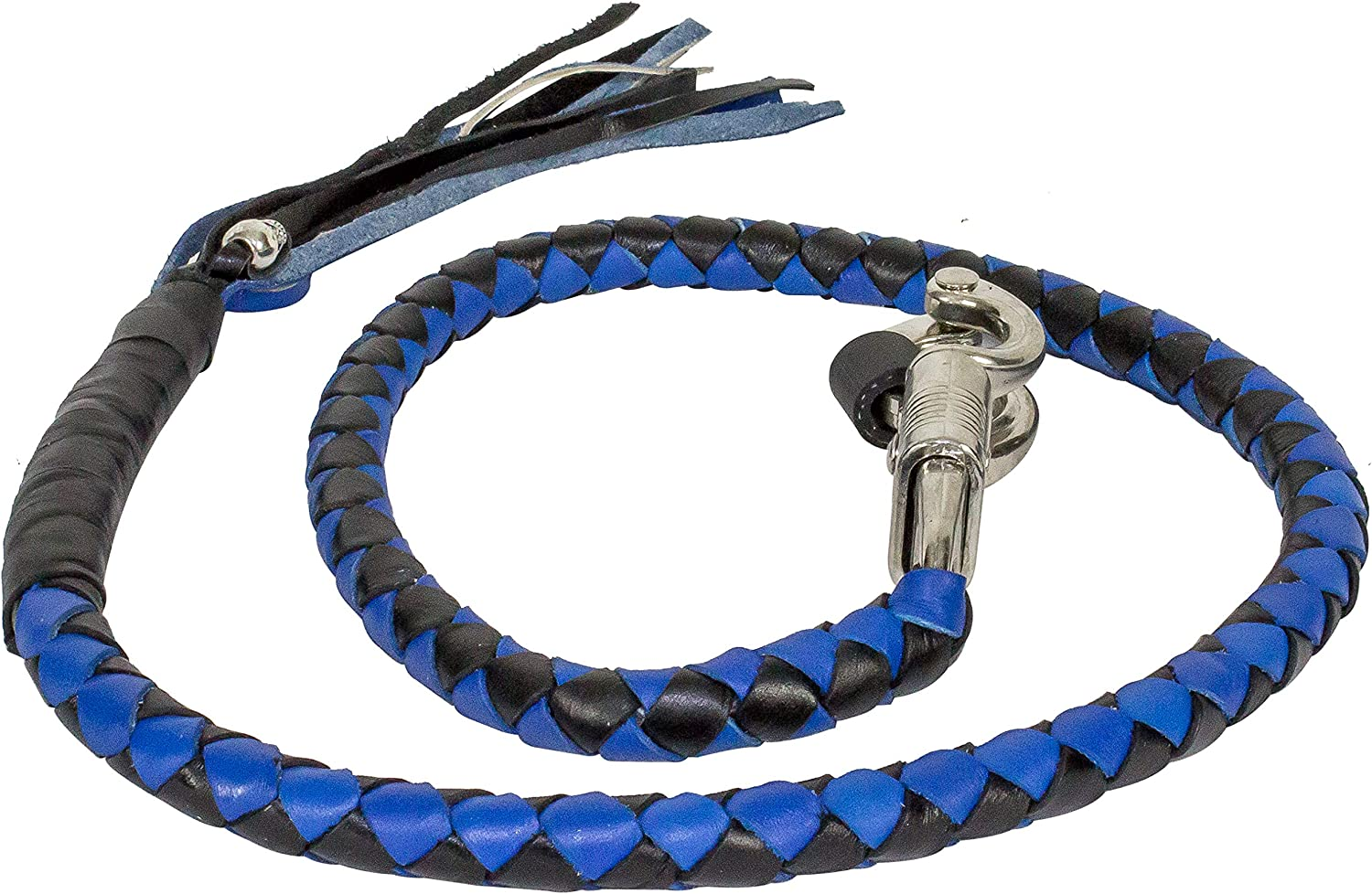 GBW2-11, Blue /& Black Get Back Whip for Motorcycles