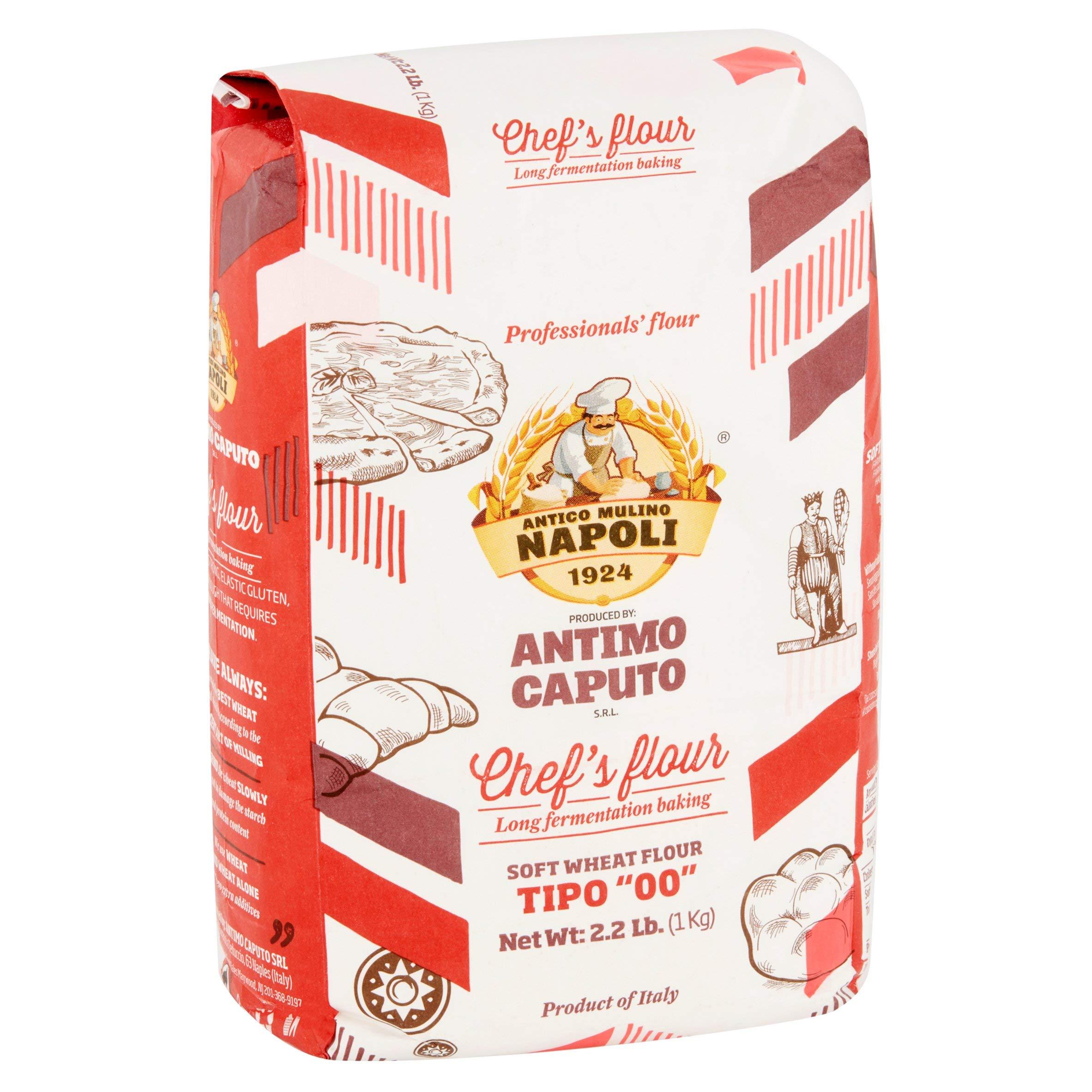 Antimo Caputo Chefs Flour 2.2 LB (Case of 10) - Italian Double Zero 00 - Soft Wheat for Pizza Dough, Bread, & Pasta by Antimo Caputo