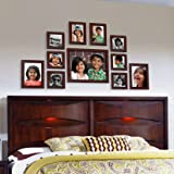 Ajanta Royal Classic Set Of 11 Individual Photo Frames (6-4X4, 2-4X6, 2-5X7 & 1-8X10) : A-73B (Brown)