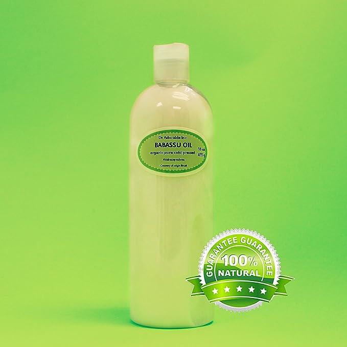 16 Oz Babassu Oil 100% Pure Organic Cold Pressed For Skin Hair Moisturizing