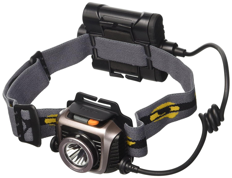 Fenix HP15 UE 4AA Headlamp w Batteries,900 Lumens,Gray HP15UEGY-B