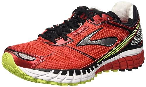b1641544d79da Brooks Men s Aduro 3 M Running Shoes Multicolor High Risk  Red Black Nightlife 10