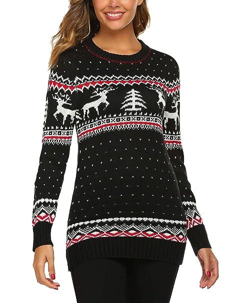 Ugly Christmas Sweater Pattern.Unibelle Women S Ugly Christmas Sweater Patterns Reindeer Pullover Jumper S Xxl