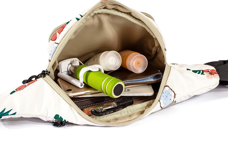 TOPERIN Fashion Fanny Pack Cute Running Belt Waist Pack Running Waist Bag Belt