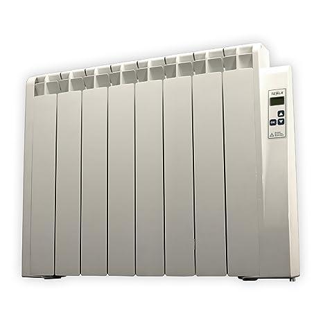 farho Radiador Electrico de Bajo Consumo Tessla · 1000 Watios · TERMOSTATO Digital Programable y con