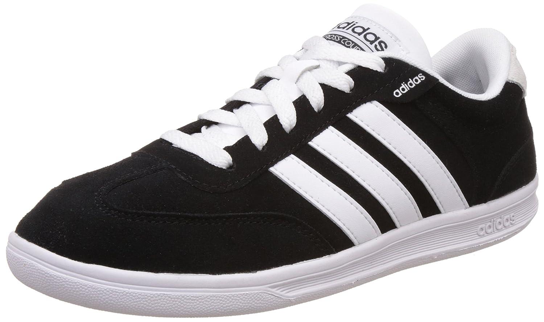Adidas neo uomini cross, corte cnero, ftwwht e msilve cuoio