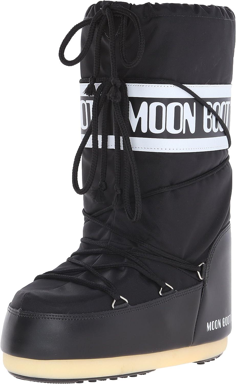 TALLA 35/38 EU Ancho. Moon Boot Nylon, Botas de Nieve Unisex Adulto
