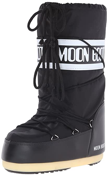 Moon Boot Nylon Unisex-Adult Snow Boots, Black (Nero), 2.5-