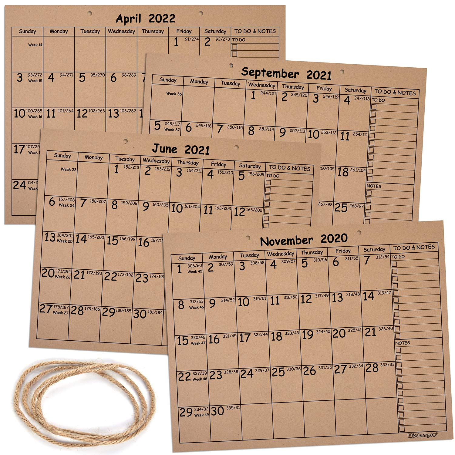 2022 Nov Calendar.Kraft Desk Calendar 2020 2022 Wisdompro Monthly And Weekly Rustic Julian Wall Calendar Planner 18 Months Nov 2020 Apr 2022 With Planning Blotter Pad 11 2 X 14 3 Inches Amazon In Office Products