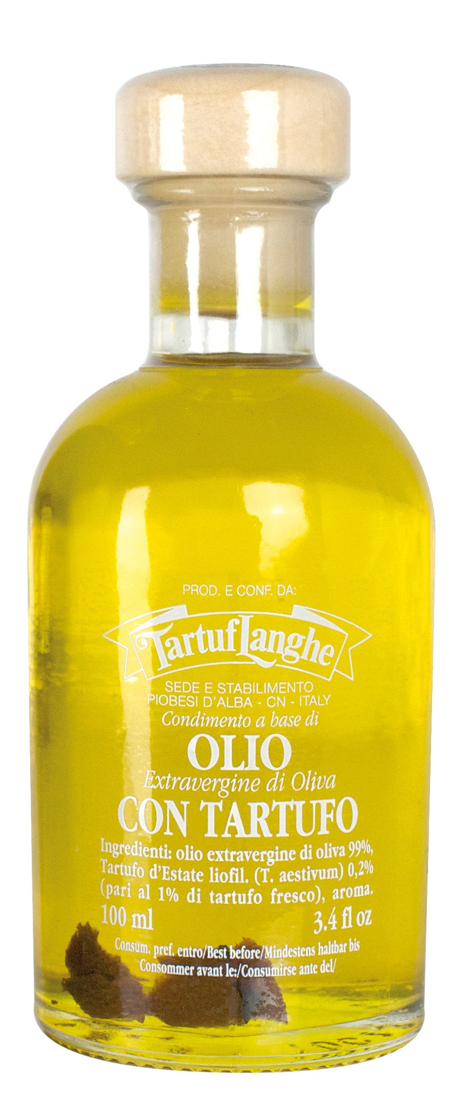 Tartuflanghe EVOO with Summer Black Truffle Slices (100ml)