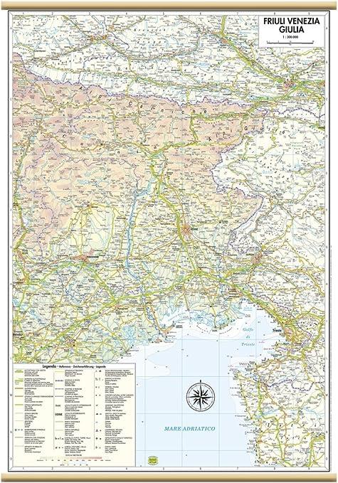 Cartina Stradale Venezia.Friuli Venezia Giulia Carta Regionale Murale 47x70 Cm Belletti Amazon It Cancelleria E Prodotti Per Ufficio