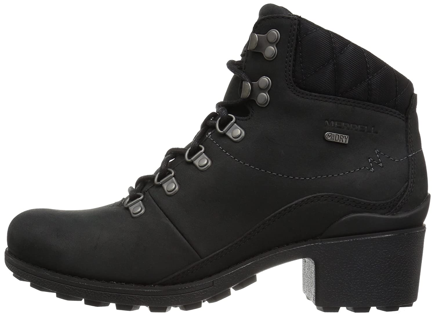 Merrell Women's Chateau 7.5 Mid Lace Waterproof Snow Boot B01MZ0B813 7.5 Chateau B(M) US|Black 5342e1