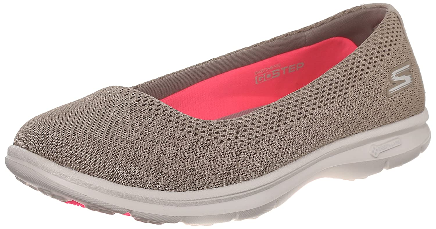 Skechers Performance Women's Go Step Challenge Walking Shoe B0123S787E 7.5 B(M) US|Taupe Mesh