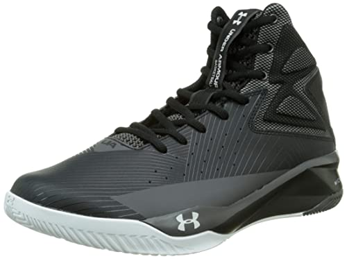 new product ac587 8218c Under Armour Mens UA Rocket Basketball Shoes Black White Charcoal 8.5 D(M