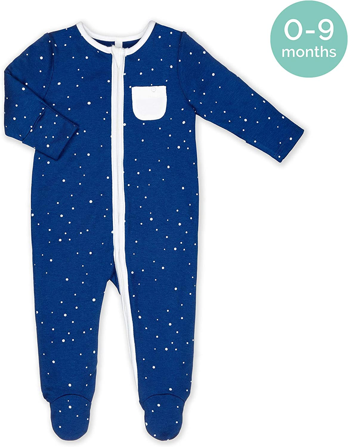 MORI Zip-Up Sleepsuit available from newborn up to 2 years 30/% Organic Cotton /& 70/% Bamboo 0-3 Months, Night Sky