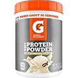 Gatorade Whey Protein Powder, Vanilla, 22.4 Ounce (20 servings per canister, 20 grams of protein per serving)