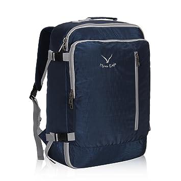 af60525de2 Veevan Sac à Dos Voyage Sac pour Ordinateur Portable 15.6 Bagage à Main 38L  (Bleu