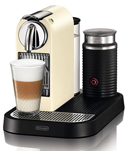 Nespresso Citiz & Milk Cream EN 266.CWAE DeLonghi - Cafetera monodosis (19 bares, Preparación manual Cappuccino, Modo ahorro energía)