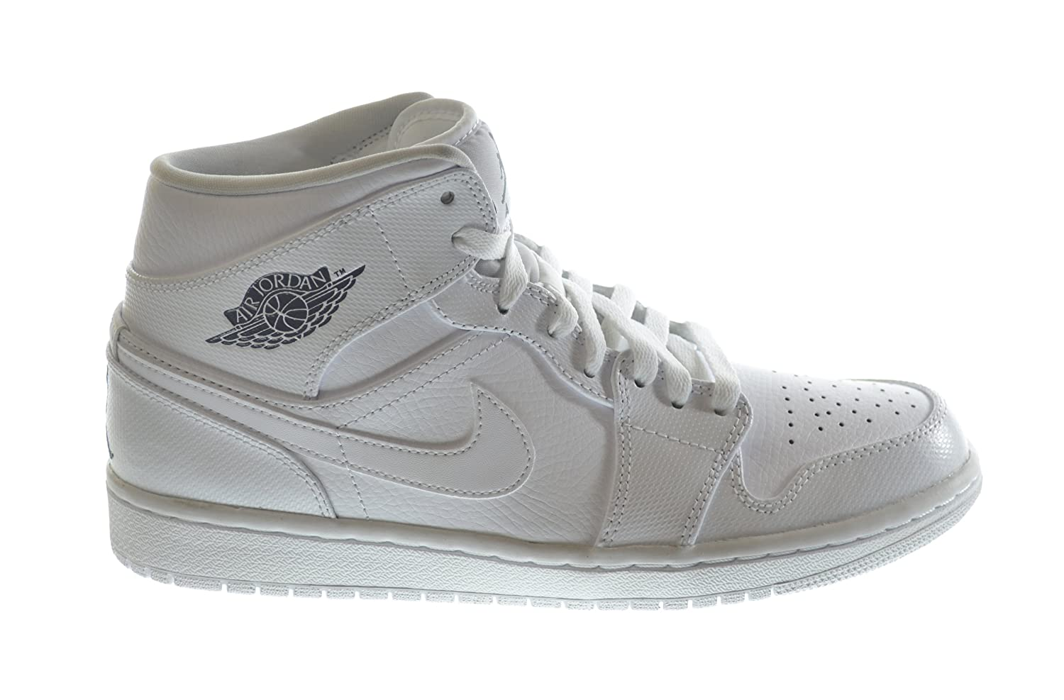 new arrival dbfca b5e7f Amazon.com   Air Jordan 1 Mid Men s Basketball Shoes White Cool Grey-White  554724-120   Shoes