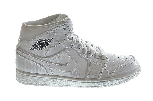 Nike Air Jordan Mid Top Sneakers Men's 10 White Cool Grey-White 554724-120
