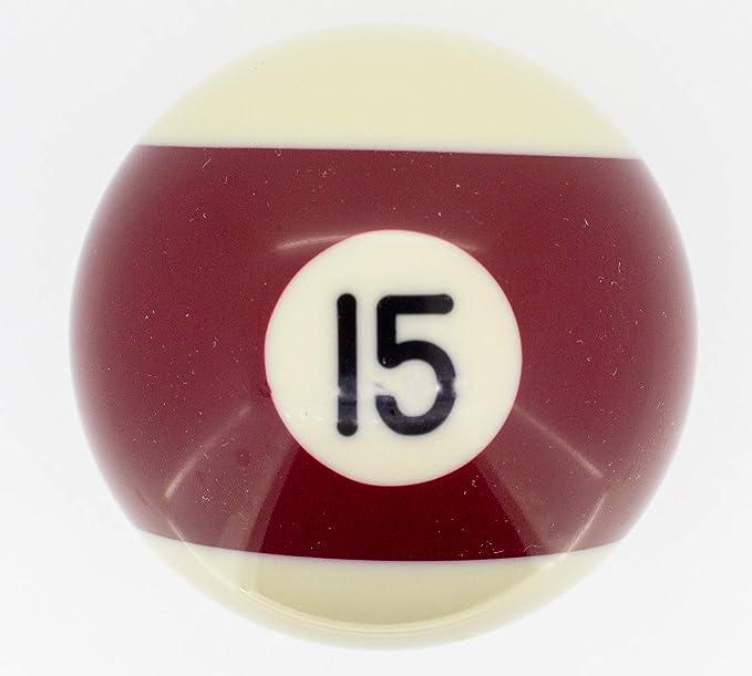 Premiergames - Bolas de billar (57,2 mm), Nr. 15, 57,2mm: Amazon ...