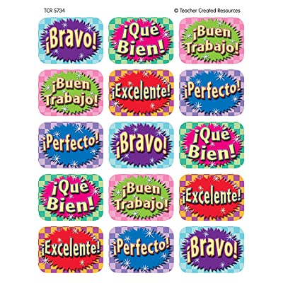 Teacher Created Resources Good Work (Spanish) 90 Jumbo Stickers, Multi Color (5734): Office Products