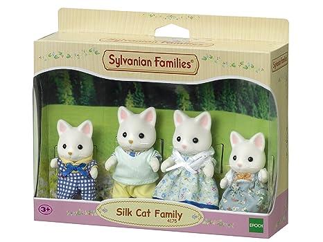SYLVANIAN FAMILIES Silk Cat Family Mini muñecas y Accesorios Epoch para Imaginar 4175