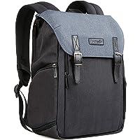 """Inateck zweischichtiger Kamera-Rucksack mit Laptop-Fach, Reiserucksack 15"""" MacBook Pro/14 Laptop, Zubehörfächer, Regenschutz, Fach für DSLR-Kamera Objektive größenverstellbar (CB2001)"""