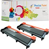 Precise Point Compatible High Yield Toner Cartridge Replacement for Brother TN630 TN660 (Two Black Toner Cartridge, 2-Pack)