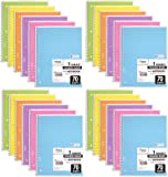 Mead Spiral Notebook, College Ruled, 1 Subject, Assorted Colors, 24 PACK: