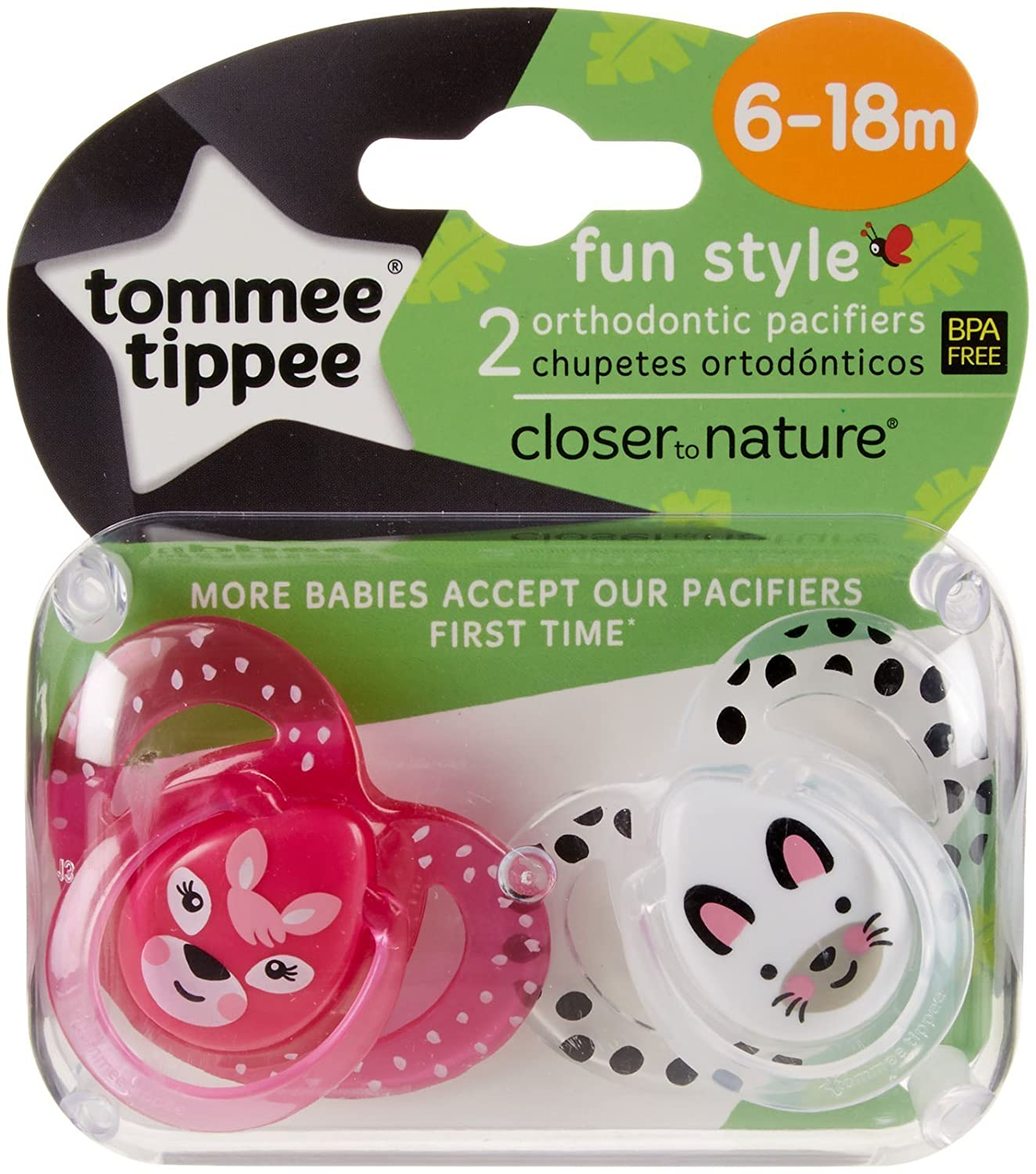 Amazon.com : Tommee Tippee Closer to Nature Fun Pacifiers ...
