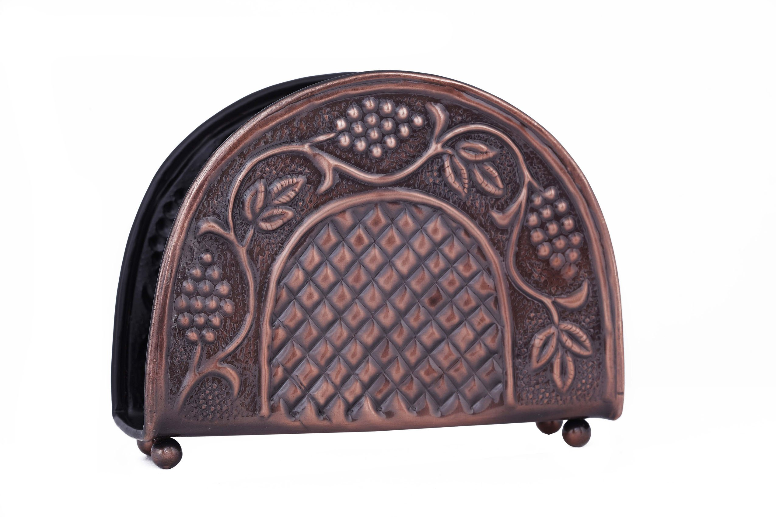 Old Dutch Antique Embossed Heritage Napkin Holder, 7-1/4 by 2 by 5-1/2-Inch by Old Dutch