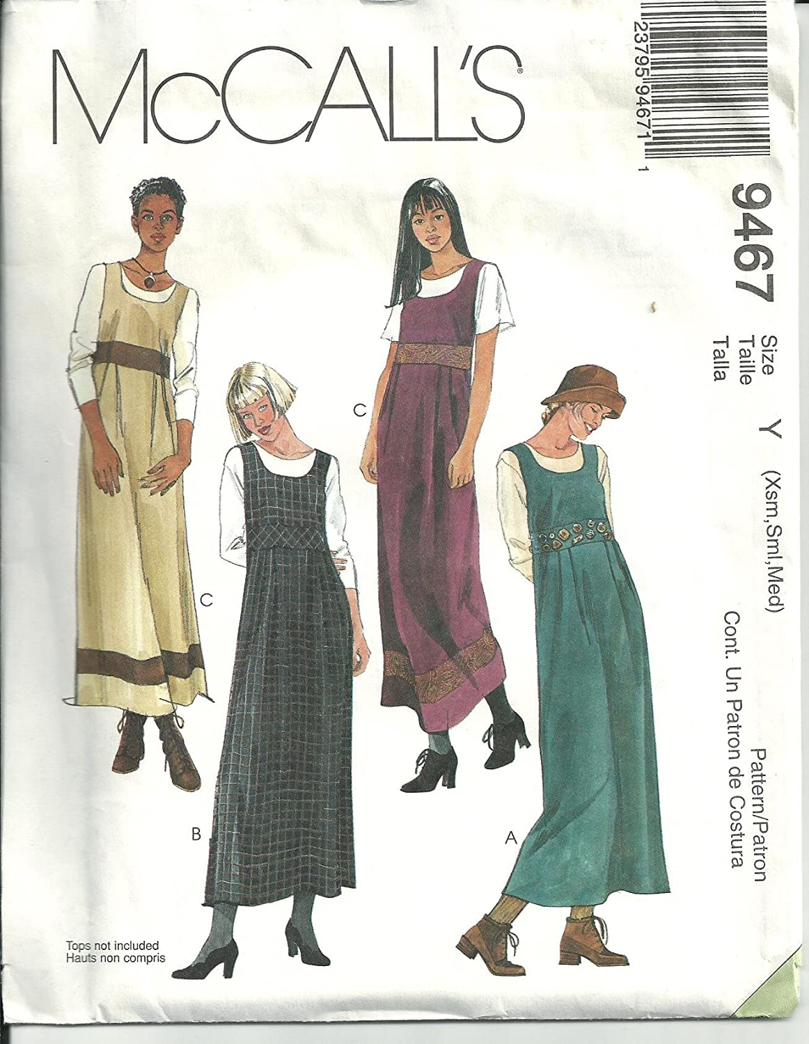 Amazon.com: Mccall\'s 9467, Misses\' Jumpers. Size: 4-14