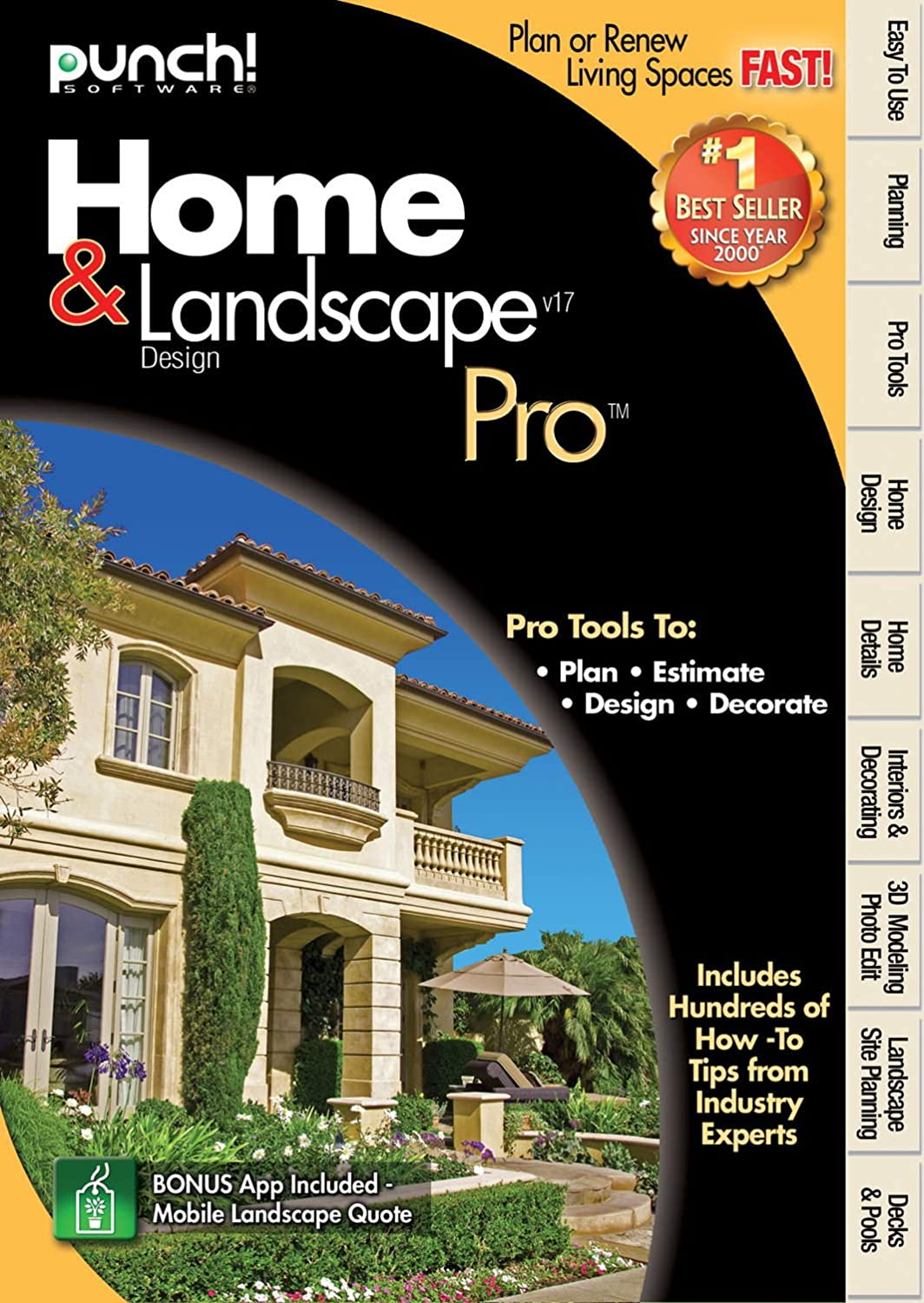 Amazon.com: Punch Home Landscape Pro Version 17: Software