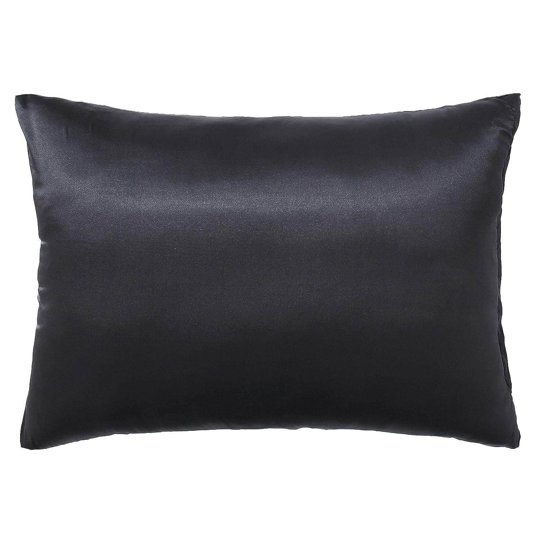 2-Pack Zipper Standard Size,Champagne Skyfitting Soft Silk Satin Pillowcase Hair Skin Both Side