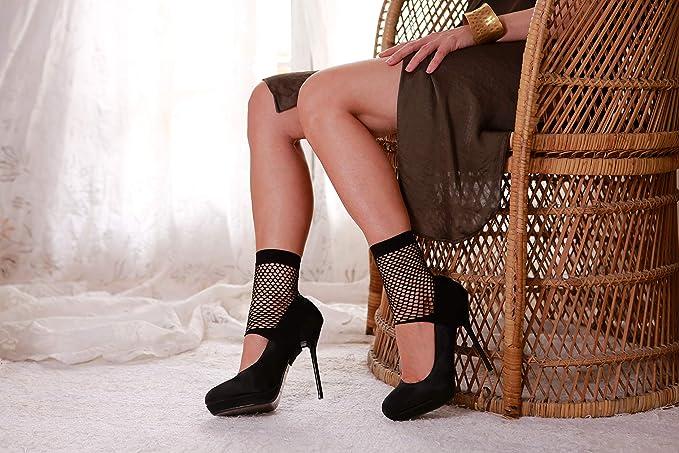 ZAKFIN SHOES COVER - art. BEATRIZ Negro de red - Mujer Accesorios - Calcetines y Medias - Ropa - Zapatos y Tacones - Novedad: Amazon.es: Ropa y accesorios