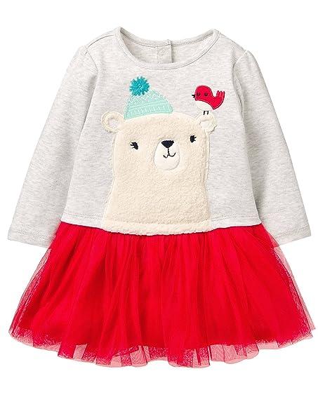 Amazon Com Gymboree Baby Girls Long Sleeve Winter Polar Bear Party