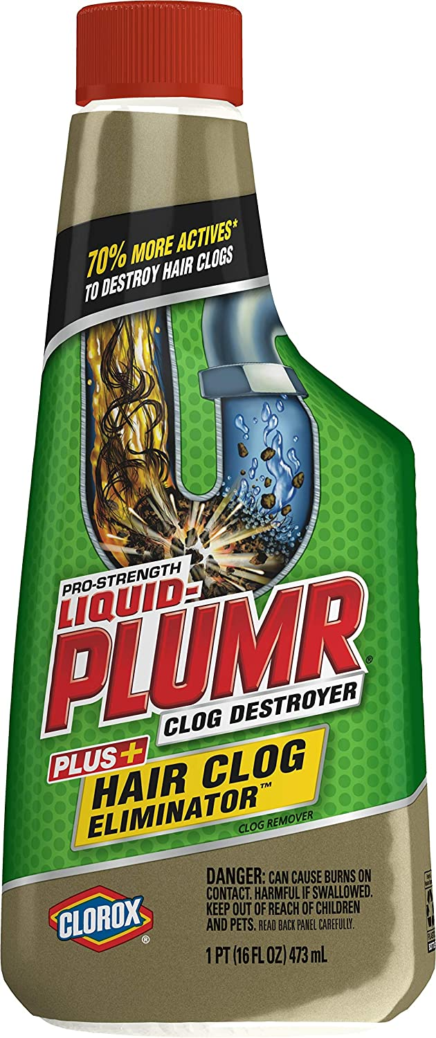 Liquid-Plumr Hair Clog Eliminator Removes Tough Hair Clogs, 16 Fl Oz (Pack of 6): Health & Personal Care