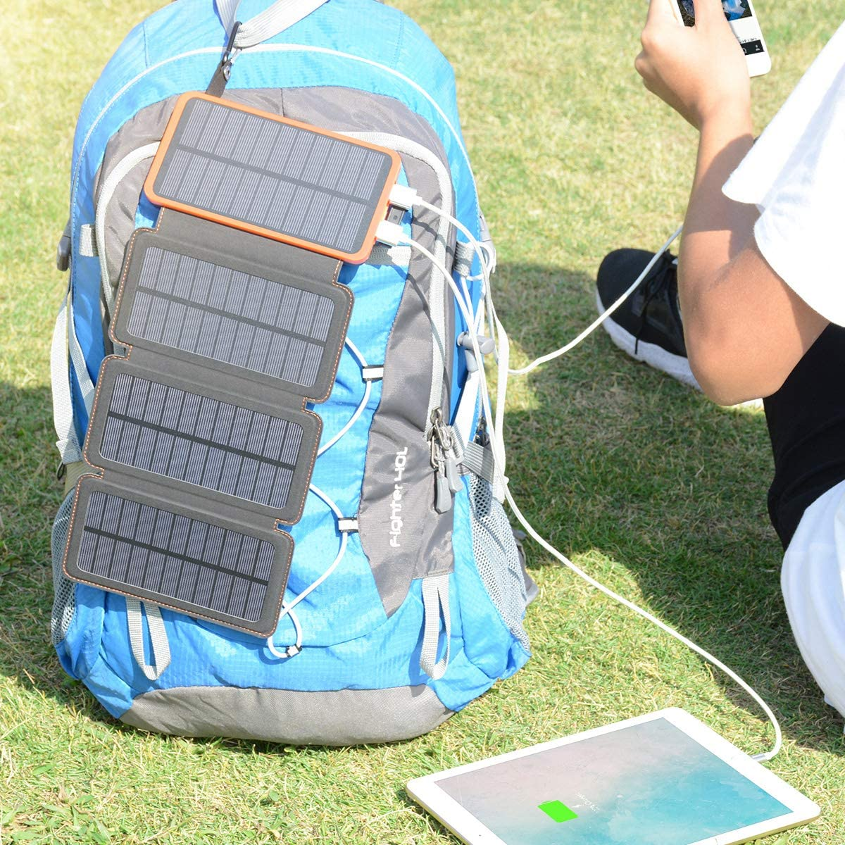 ADDTOP Cargador Solar 25000mAh Power Bank