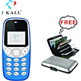 IKALL K71 Mobile And Get Aluminium Wallet (Light Blue)